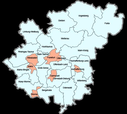 Einsatzgebiete Rhein Main Karte